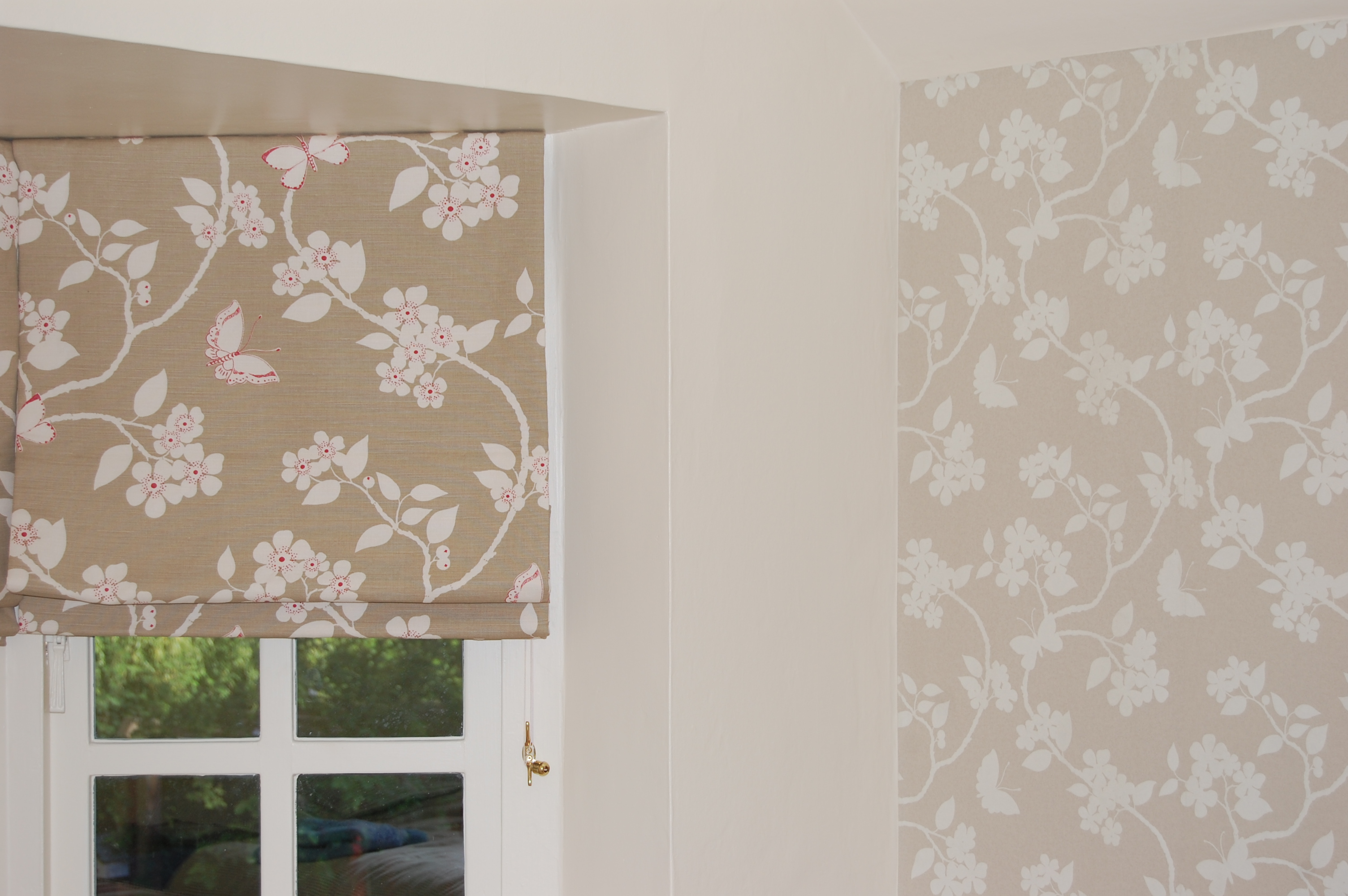 Fabrics often have wallpaper to match or complement the range.