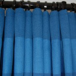 Photo showing the cartridge pleats when curtain is open.