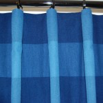 Photo showing a close up of a hand sewn curtain with cartridge pleat
