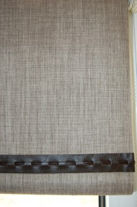 Braids, piping and pulls can add interest to roller blinds